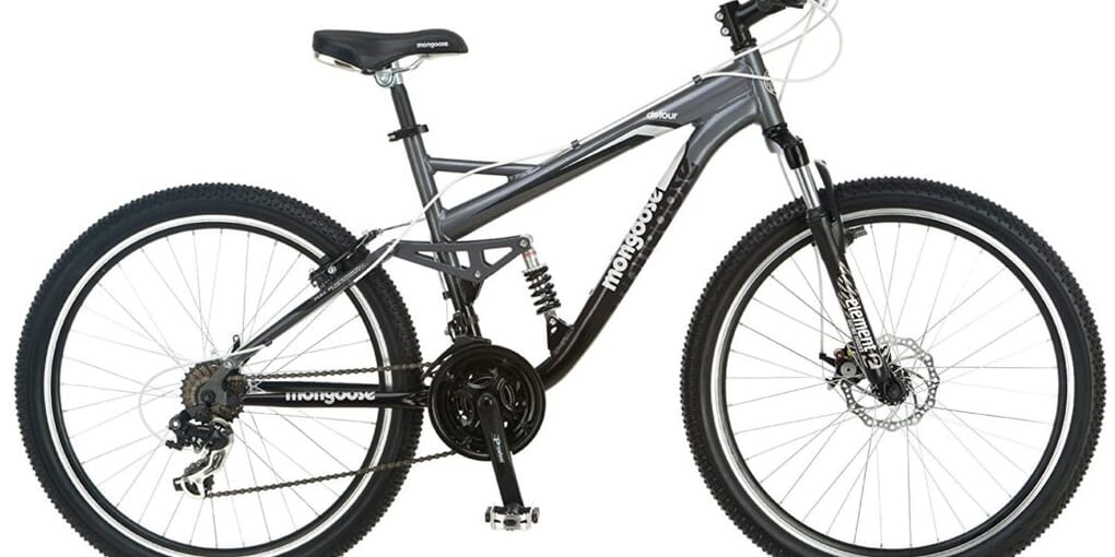 Mongoose Detour Full Suspension Bicycle Review with Detail Features